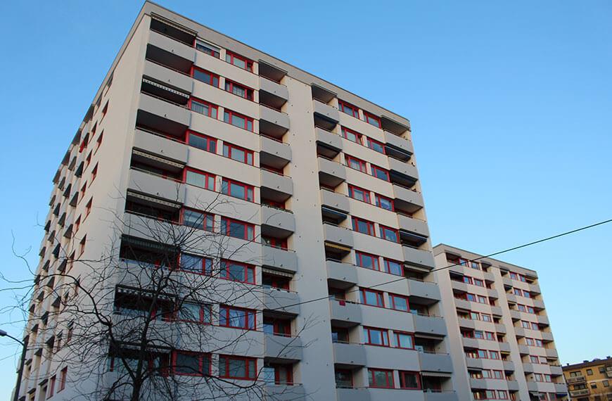 Fassadensanierung Wohnanlage Salzburg-Lehen Durchner