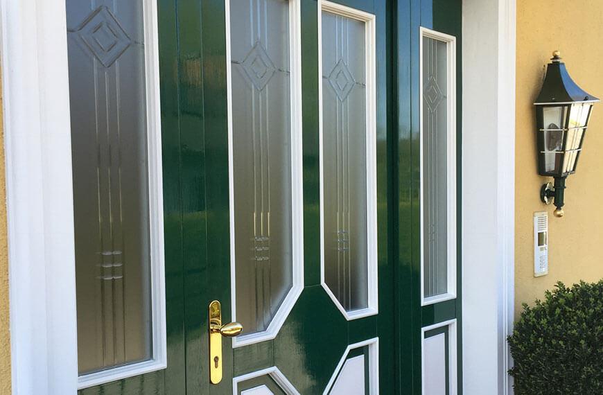 Lackierung Haustüre Privathaus Salzburg-Maxglan Durchner