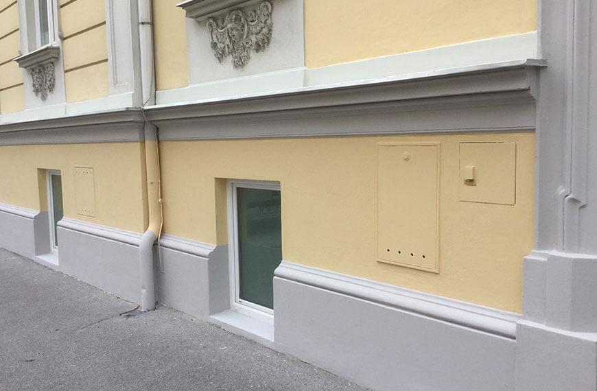 Sockelsanierung Mehrparteienhaus Salzburg-Altstadt Durchner