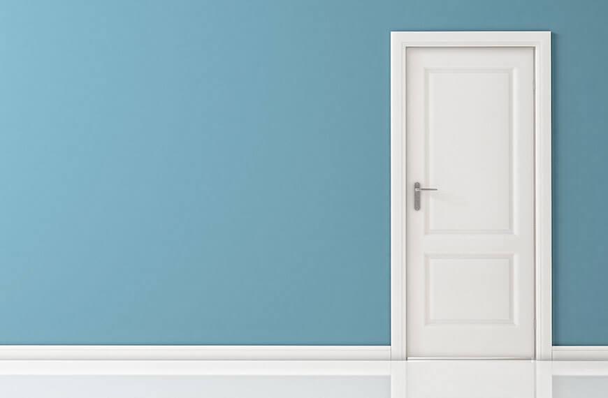 Wand blau